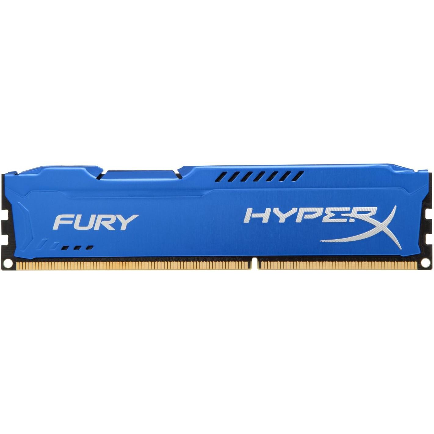 Fotografie Memorie HyperX FURY Blue 4GB, DDR3, 1600MHz, CL10, 1.5V