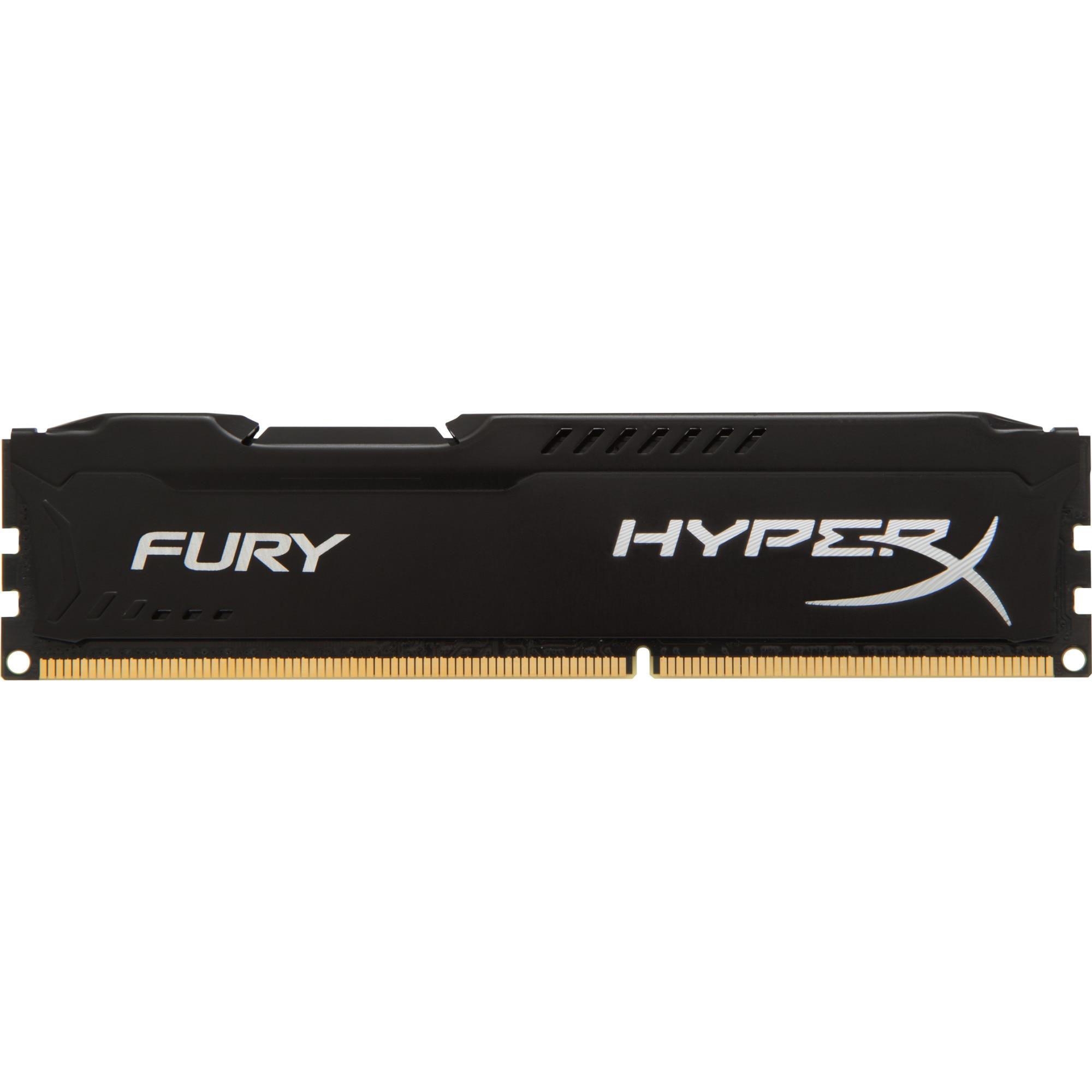 Fotografie Memorie HyperX FURY Black 4GB, DDR3, 1600MHz, CL10, 1.5V