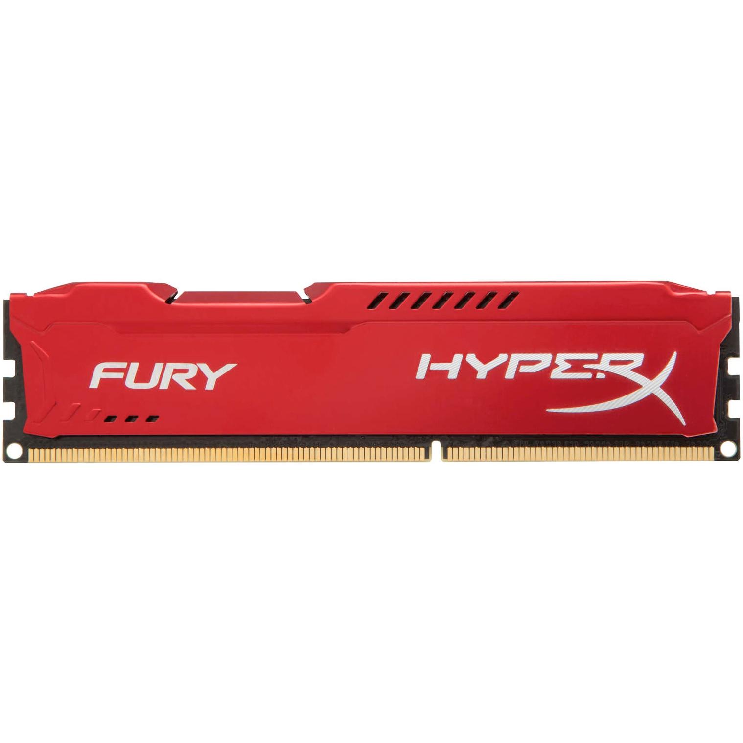 Fotografie Memorie HyperX FURY Red 4GB, DDR3, 1600MHz, CL10, 1.5V