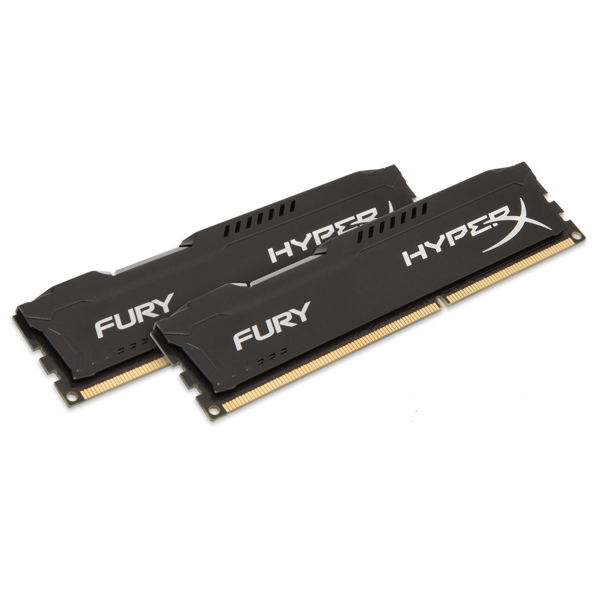 Fotografie Memorie HyperX FURY Black 16GB, DDR3, 1600MHz, CL10, 1.5V, kit 2x8GB