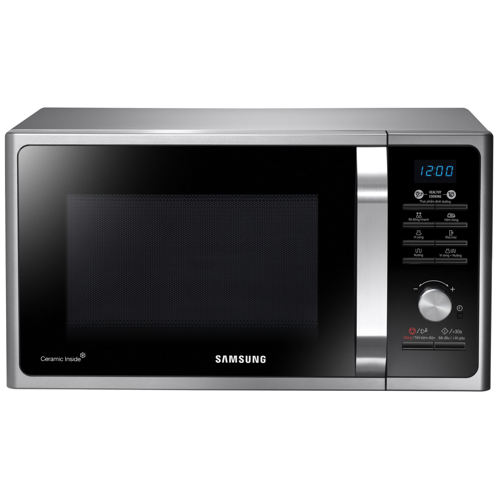 Fotografie Cuptor cu microunde Samsung MG23F301TAS, 23 l, 800 W, Grill, Digital, Silver