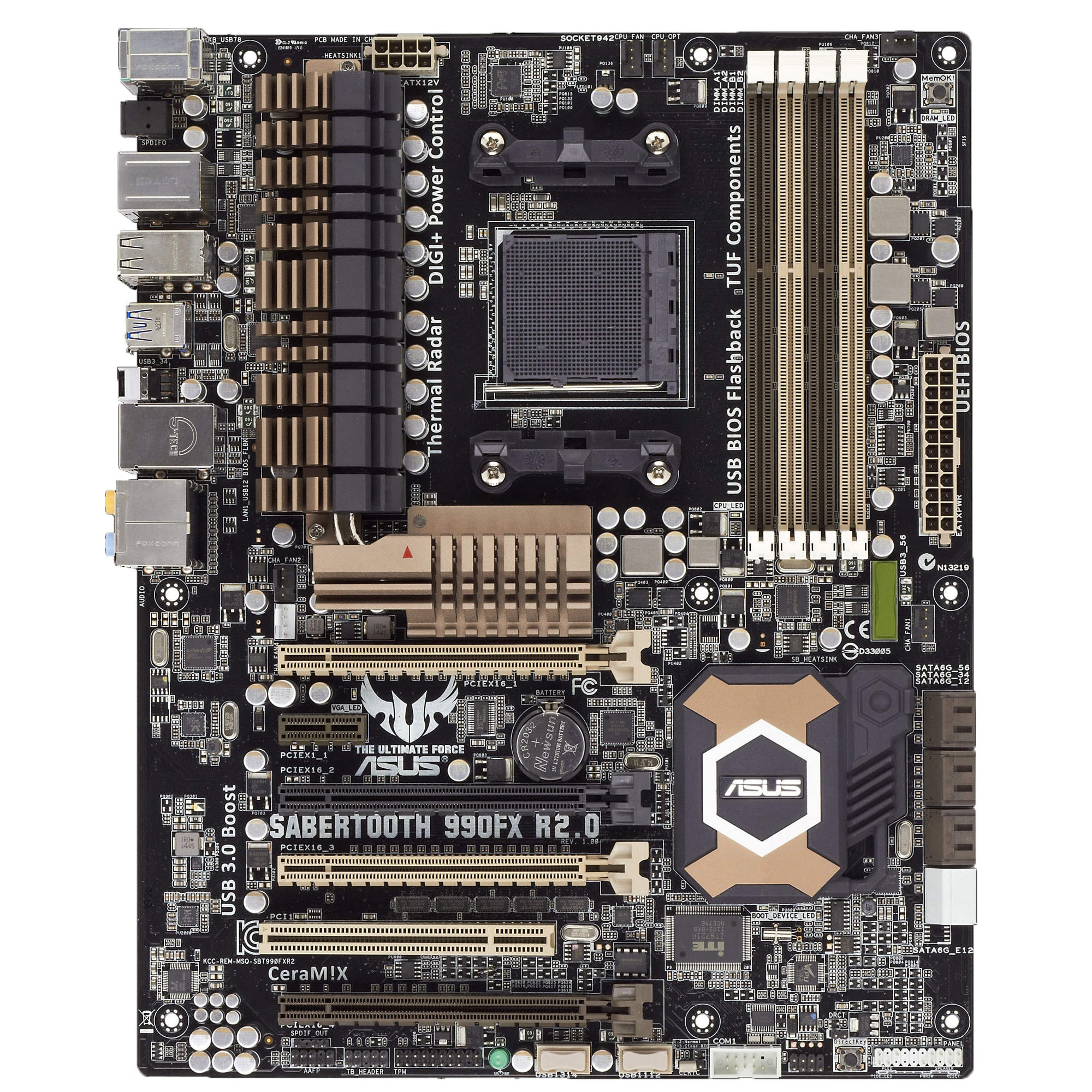 Fotografie Placa de baza ASUS SABERTOOTH 990FX R2.0, Socket AM3+