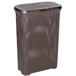 Curver ratan utánzatu szennyestartó kosár, 40 L, Műanyag, Barna