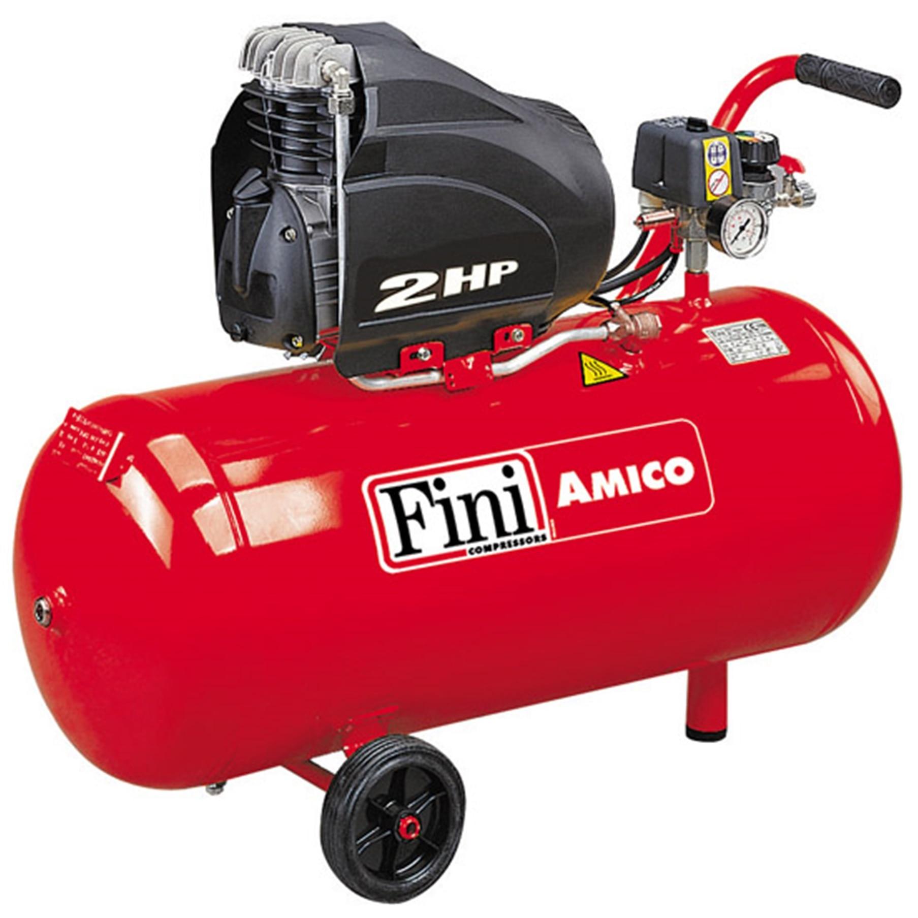 Fotografie Compresor cu piston Fini AMICO 50/SF2500, 50 l, 1500 W, 8 Bar