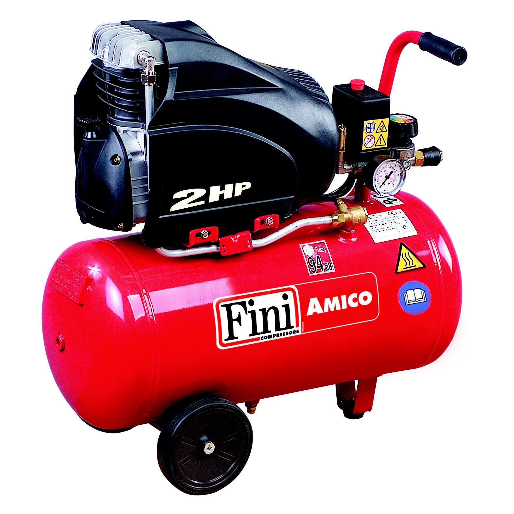 Fotografie Compresor cu piston Fini AMICO 25/2500, 24 l, 1500 W, 8 Bar