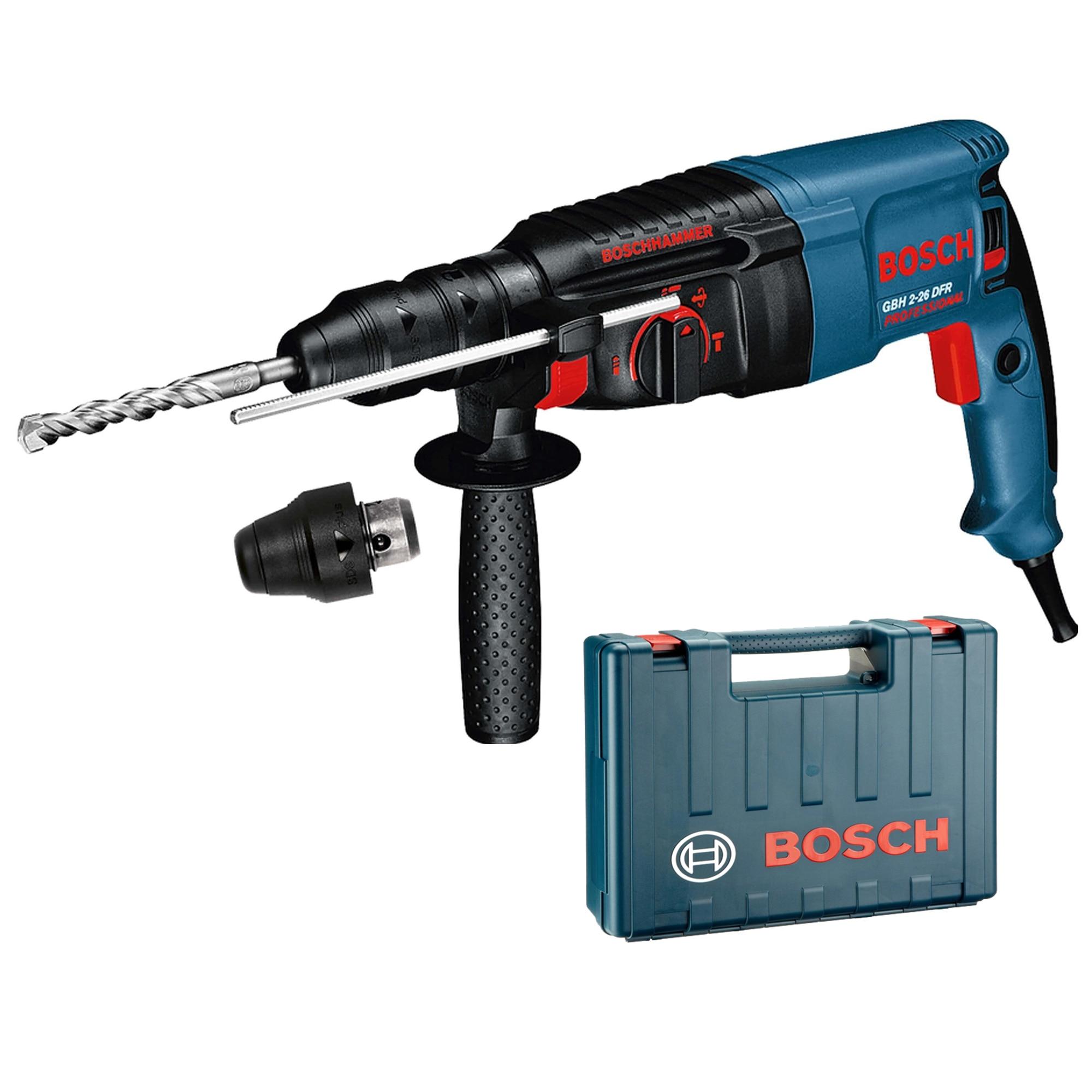 Fotografie Ciocan rotopercutor Bosch Professional GBH 2-26 DFR, 800 W, 900 RPM, 2.7 J + Mandrina interschimbabila SDS-Plus