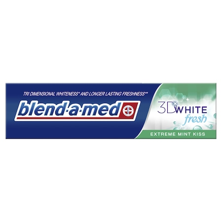 Паста за зъби Blend-a-Med 3D White Fresh Extreme Mint Kiss, 100 мл