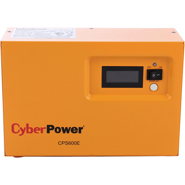 Fotografie UPS CYBER POWER EPS series, 420W, 600VA, pentru centrale termice, 12V, AVR, LCD, Sinusoida pura, 1 x schuko
