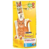 Суха храна за котки FRISKIES Adult Steril Cat, Сьомга и Зеленчуци, 1.5 кг