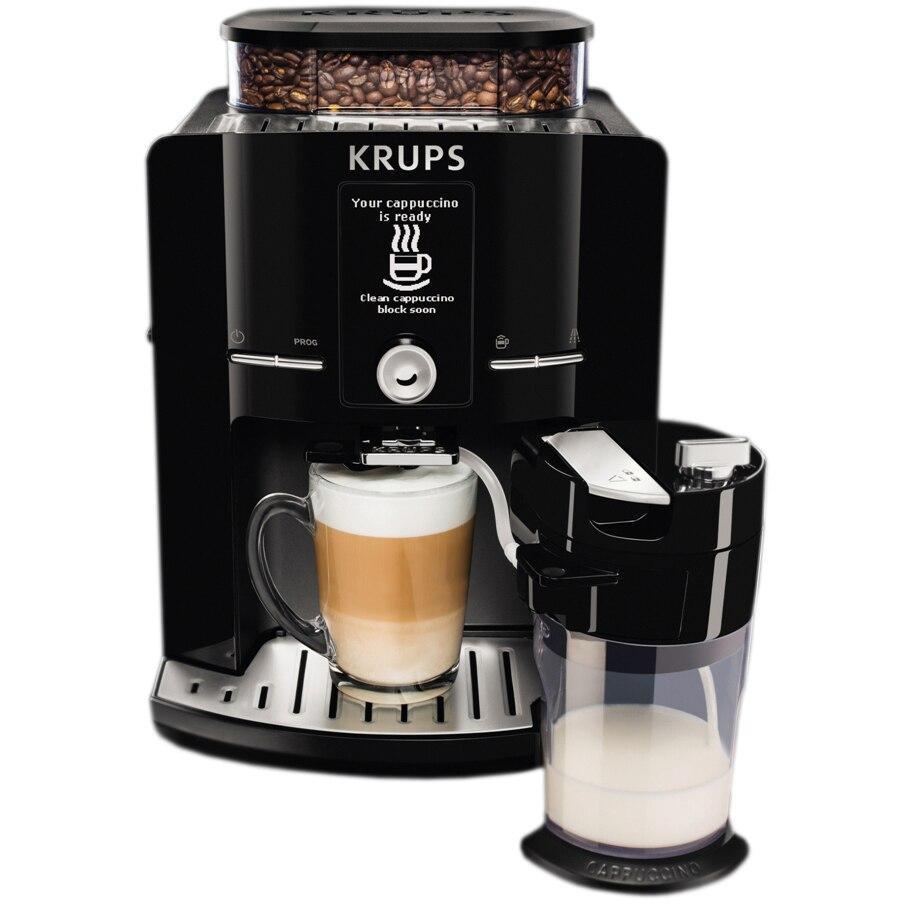 Fotografie Espressor Automat KRUPS LATT'ESPRESS EA829810, 1500W, 15 bar , ecran LCD , 260 g, 1.7L