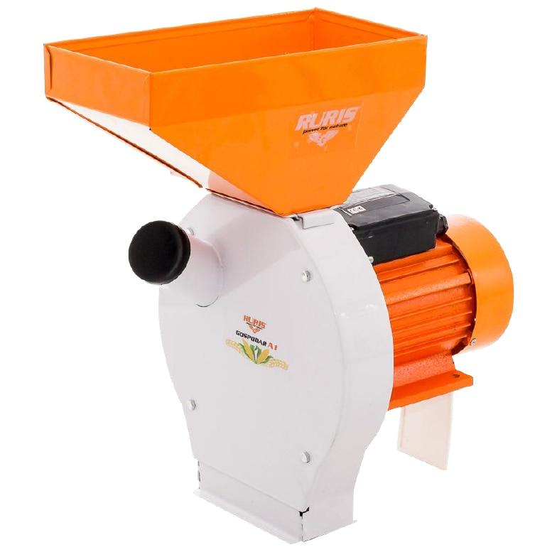 Fotografie Moara cu ciocanele Ruris Gospodar A1, 1100 W, 3000 RPM, toaca pentru coceni si boabe cereale