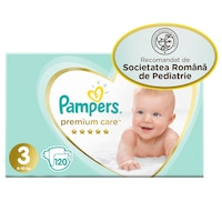 carrefour pampers 120 buc