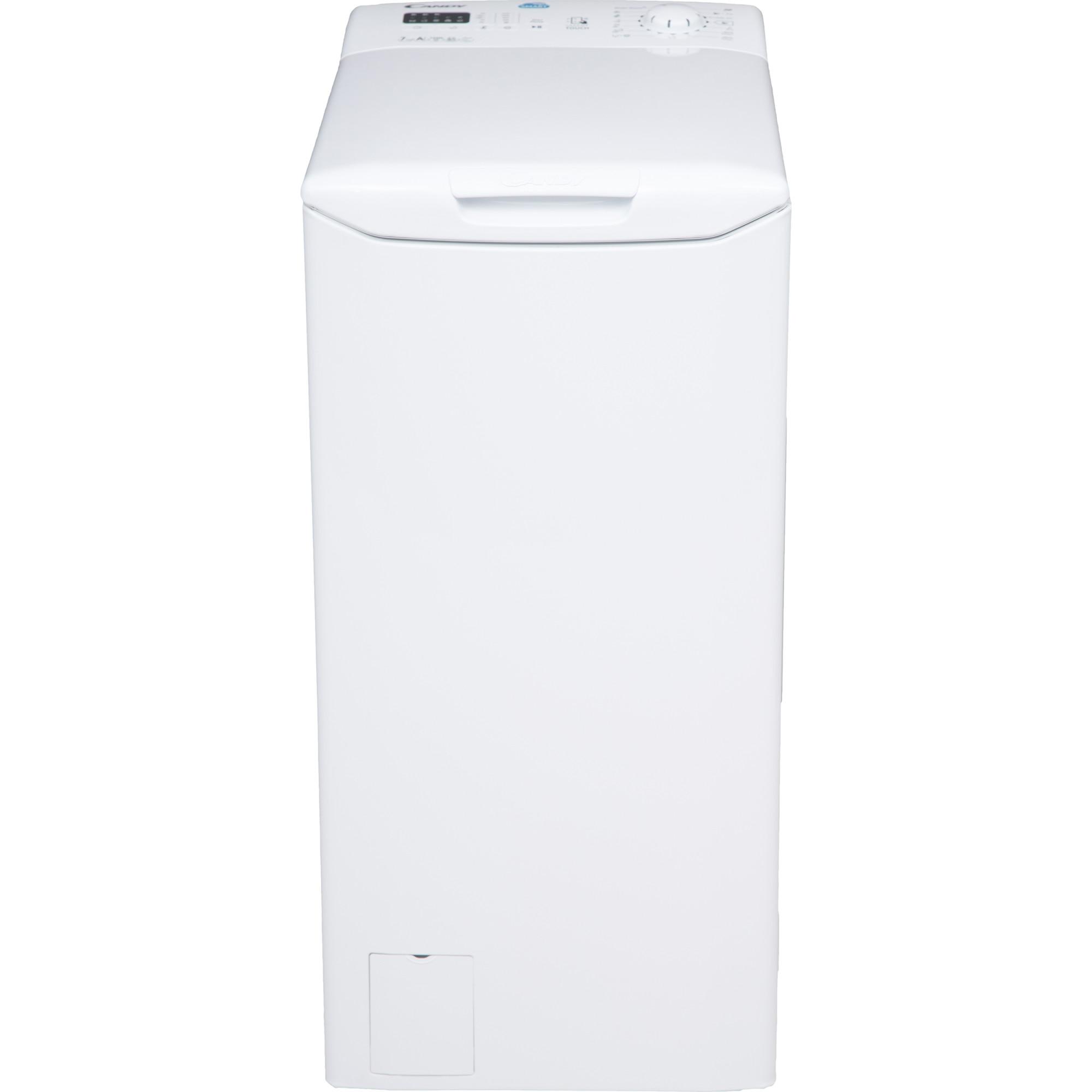 Fotografie Masina de spalat rufe cu incarcare verticala Candy CST 372L-S, Afisaj LED, Smart Touch, NFC, 7 kg, 1200 RPM, Clasa A+++, Alb
