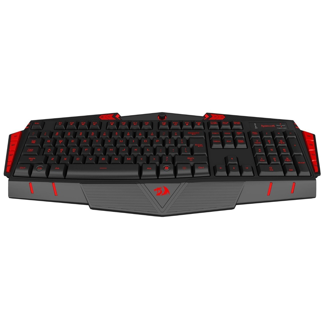 Fotografie Tastatura Gaming Redragon Asura, Iluminata, USB, Negru