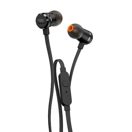 JBL T290 fülhallgató, Fekete, Vezérlés, Gubancmentes kábel