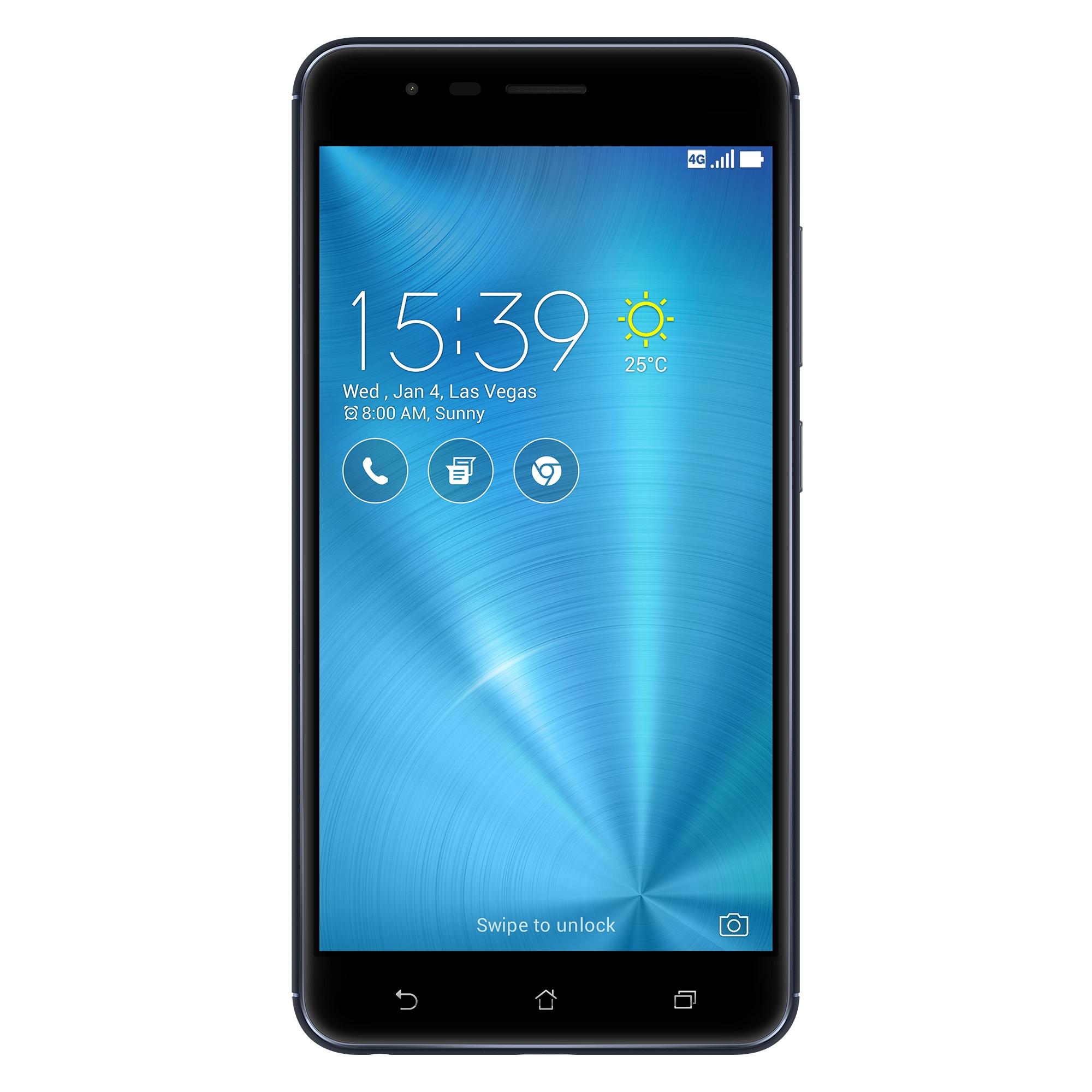 Fotografie Telefon mobil ASUS ZenFone Zoom S ZE553KL, Dual SIM, 64GB, 4G, Navy Black
