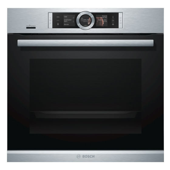 Fotografie Cuptor incorporabil Bosch HSG636XS6, Electric, Multifunctional, 71 l, Functie Abur, Home Connect, Convectie 4D, Touch control, Display TFT, Clasa A+, Inox