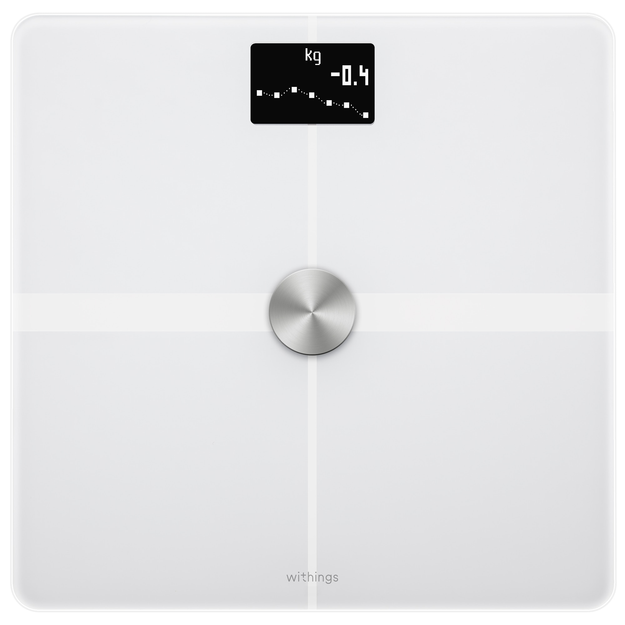 Fotografie Cantar de persoane Withings Body Full Body Composition WBS05, Bmi, Wi-fi, 180 Kg, Alb