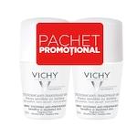 Pachet Promo: Vichy Deodorant roll-on antiperspirant fara parfum, 48h, 50 ml 1+1-50%