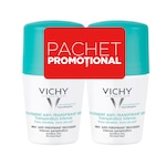 Pachet Promo: Vichy Deodorant roll-on antiperspirant cu parfum, 48h, 50 ml (piele sensibila) 1+1-50%