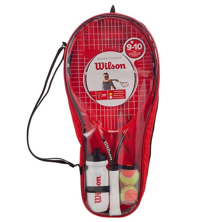 """Fotografie Racheta tenis Wilson Roger Federer Starter Set, Negru/Rosu, 23"""", Maner 0"""