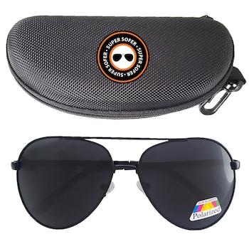 Ochelari de condus ziua polarizati SUPERSOFER™ Aviator, toc inclus