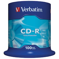 Verbatim Extra Protection Surface CD-R, 52x, 700 MB, 100 darab