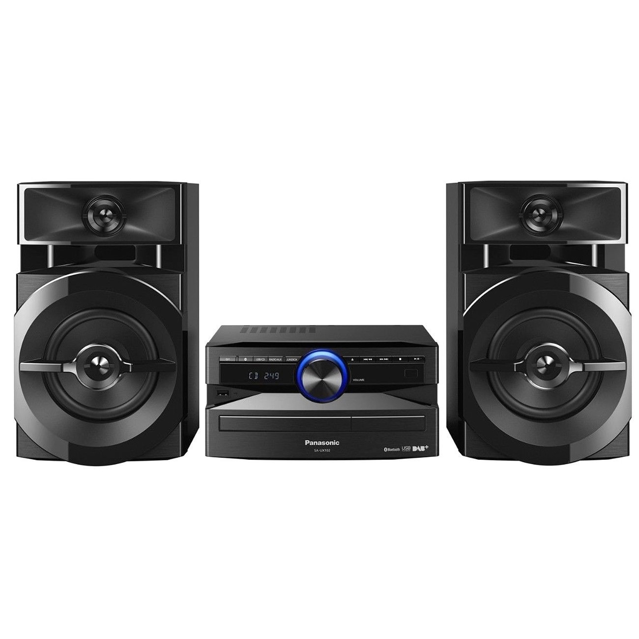 Fotografie Sistem audio Panasonic SC-UX100E-K, 300W, Bluetooth, Negru