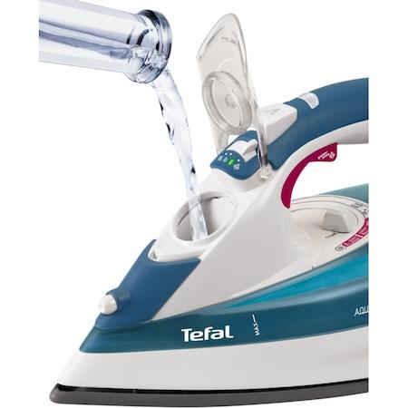 Fier de calcat Tefal Aquaspeed Autoclean FV5374, Talpa Autoclean, 2400 W, 0.3 l, 40 g/min, 160 g/min, 2 m, Alb/Albastru