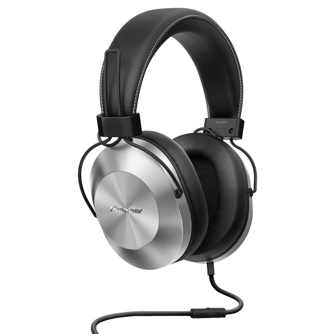 Fotografie Casti Pioneer SE-MS5T-S, Hi-Res Audio, microfon, Argintiu