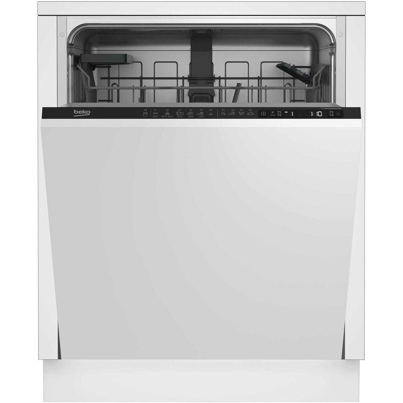 Fotografie Masina de spalat vase incorporabila Beko DIN26421, 14 seturi, 6 programe, Motor ProSmart Inverter, Fast+, cos tacamuri flexibil, Clasa A++, 60 cm