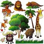 Afrikai állatvilág , falmatrica