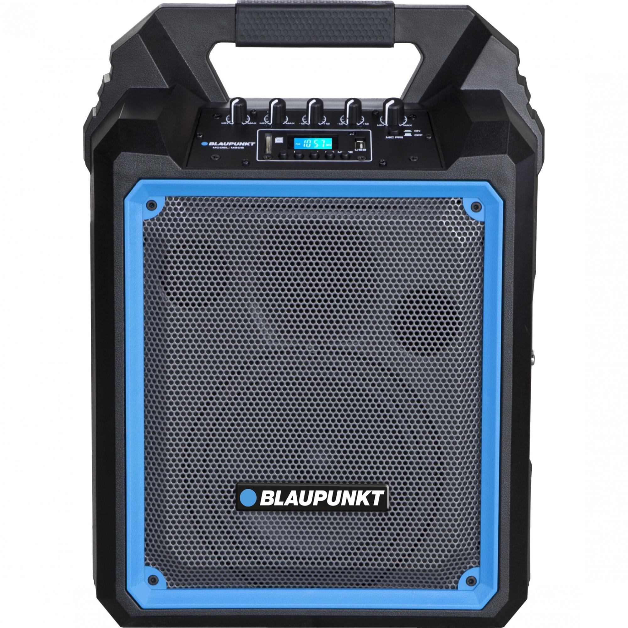 Fotografie Boxa portabila Blaupunkt, MB06, Bluetooth, FM/SD/USB/AUX/KARAOKE, 500W