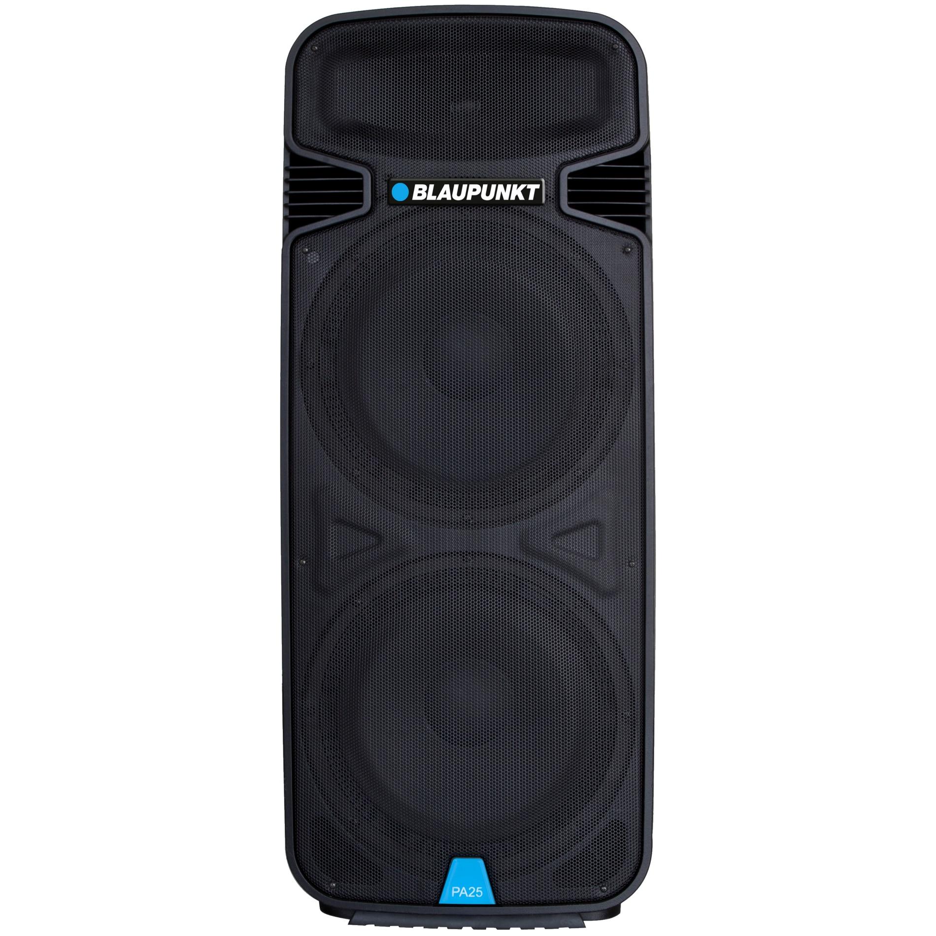 Fotografie Boxa profesionala Bluetooth FM/SD/USB/AUX/KARAOKE, 1900W, PA25