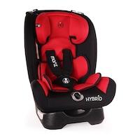 Scaun auto ajustabil NOVOKIDS Hybrid Red, 0-36 kg, transformabil in scoica auto, sistem de prindere in 5 puncte, husa detasabila, Rosu cu Negru
