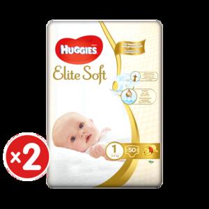 Scutece Huggies Elite Soft 1, 3-5 kg, 100 buc