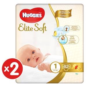 Scutece Huggies Elite Soft 1, 3-5 kg, 164 buc