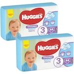 Пелени-гащички Huggies Virtual Pack 3, Boy, 6-11 кг, 88 броя