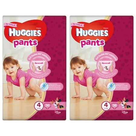 Пелени-гащички Huggies Virtual Pack 4, Girl, 9-14 кг, 72 броя