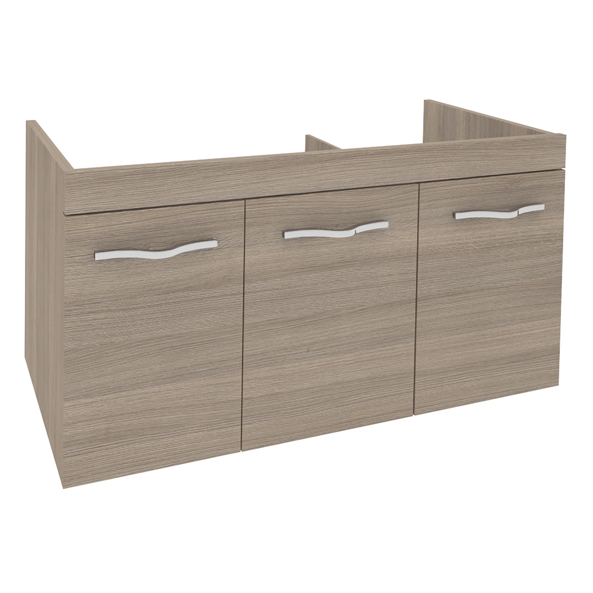 Fotografie Baza mobilier cu trei usi Kring Corallo Fumo, 100x51x46 cm