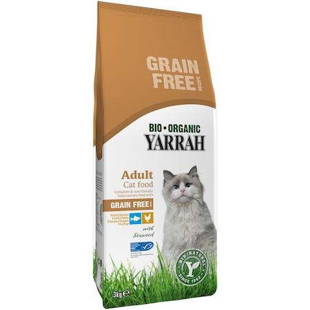 Органична храна за котки Yarrah Adult, Риба/Пилешко, Без зърнени храни, 3 кг
