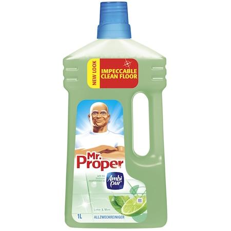 Универсален почистващ препарат Mr. Proper Лимон и Мента, 1 л