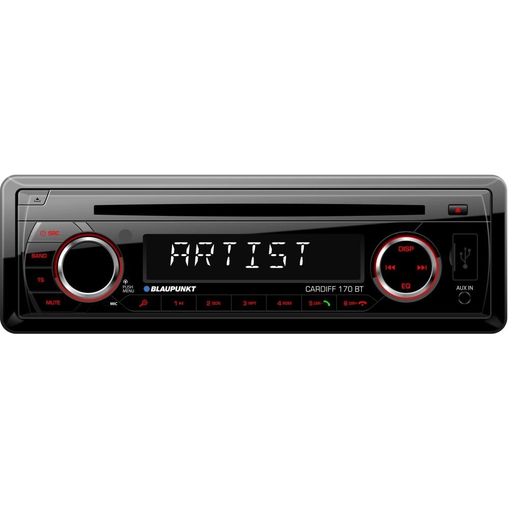 Fotografie Player auto Blaupunkt Cardiff 170BT, 4X40W, CD, Radio, USB, SD, Bluetooth, Aux In, Telecomanda, RCA, Iluminare rosu
