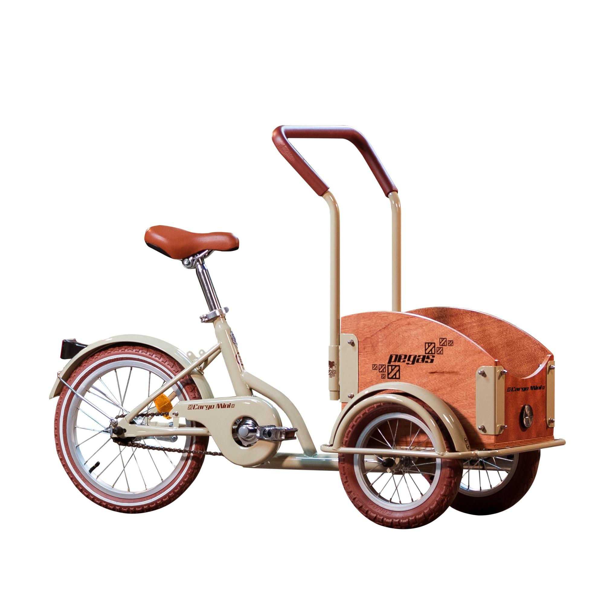 Fotografie Bicicleta Pegas Mini Cargo 1S pentru copii, Crem Aluna