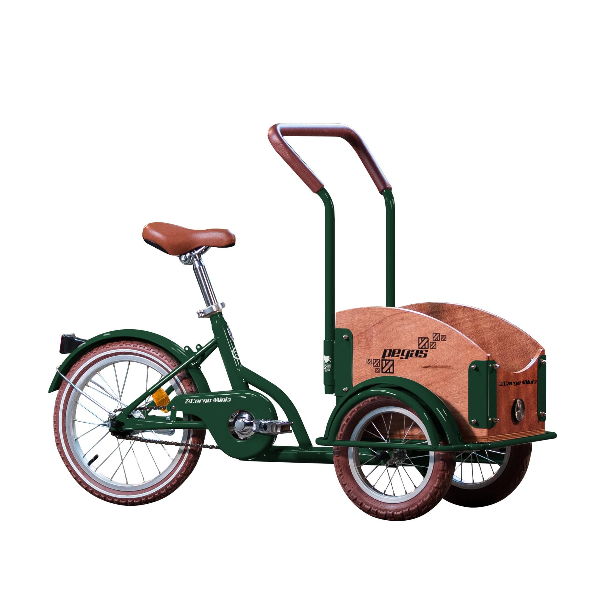 Fotografie Bicicleta Pegas Mini Cargo 1S pentru copii, Verde Smarald