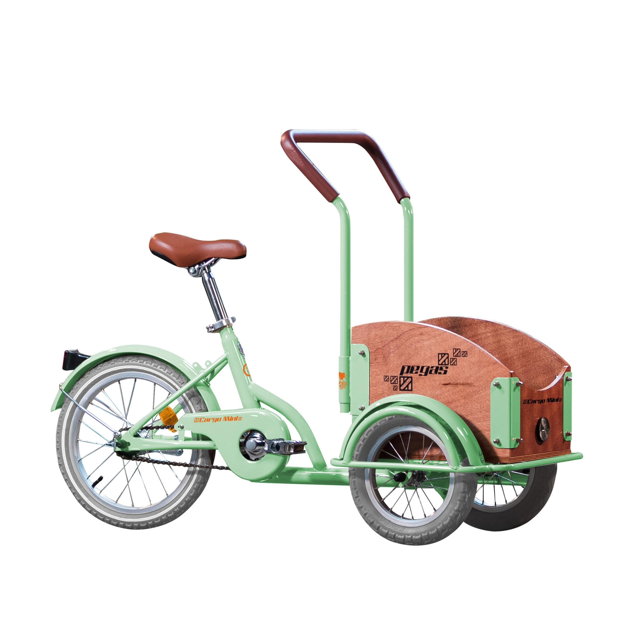 Fotografie Bicicleta Pegas Mini Cargo 1S pentru copii, Verde Fistic