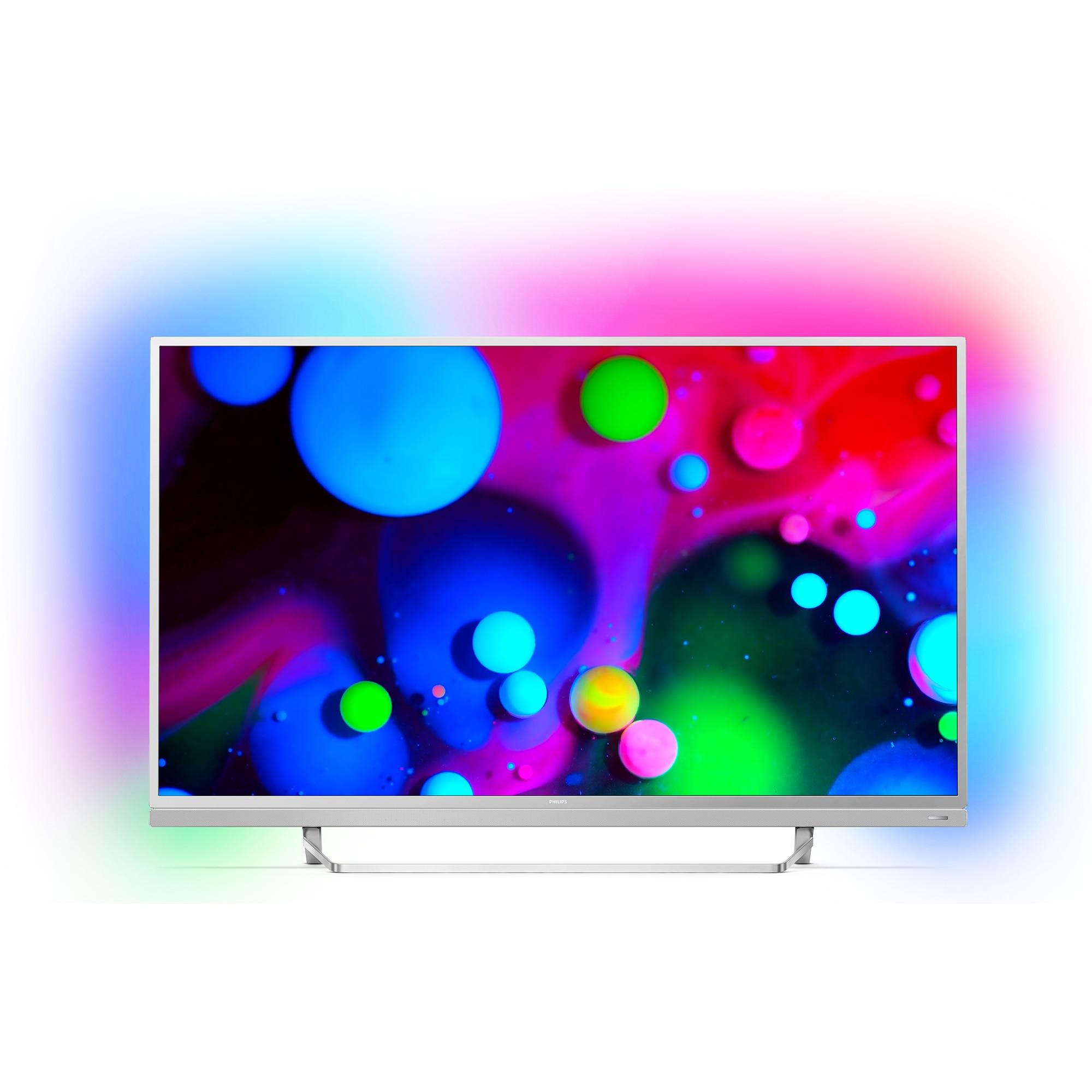 Fotografie Televizor Smart Android Philips, 123 cm, 49PUS6482/12, 4K Ultra HD, Clasa A