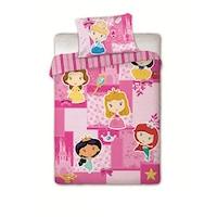 Hercegnők ovis gyerek ágynemű garnitúra – princess ágyneműhuzat