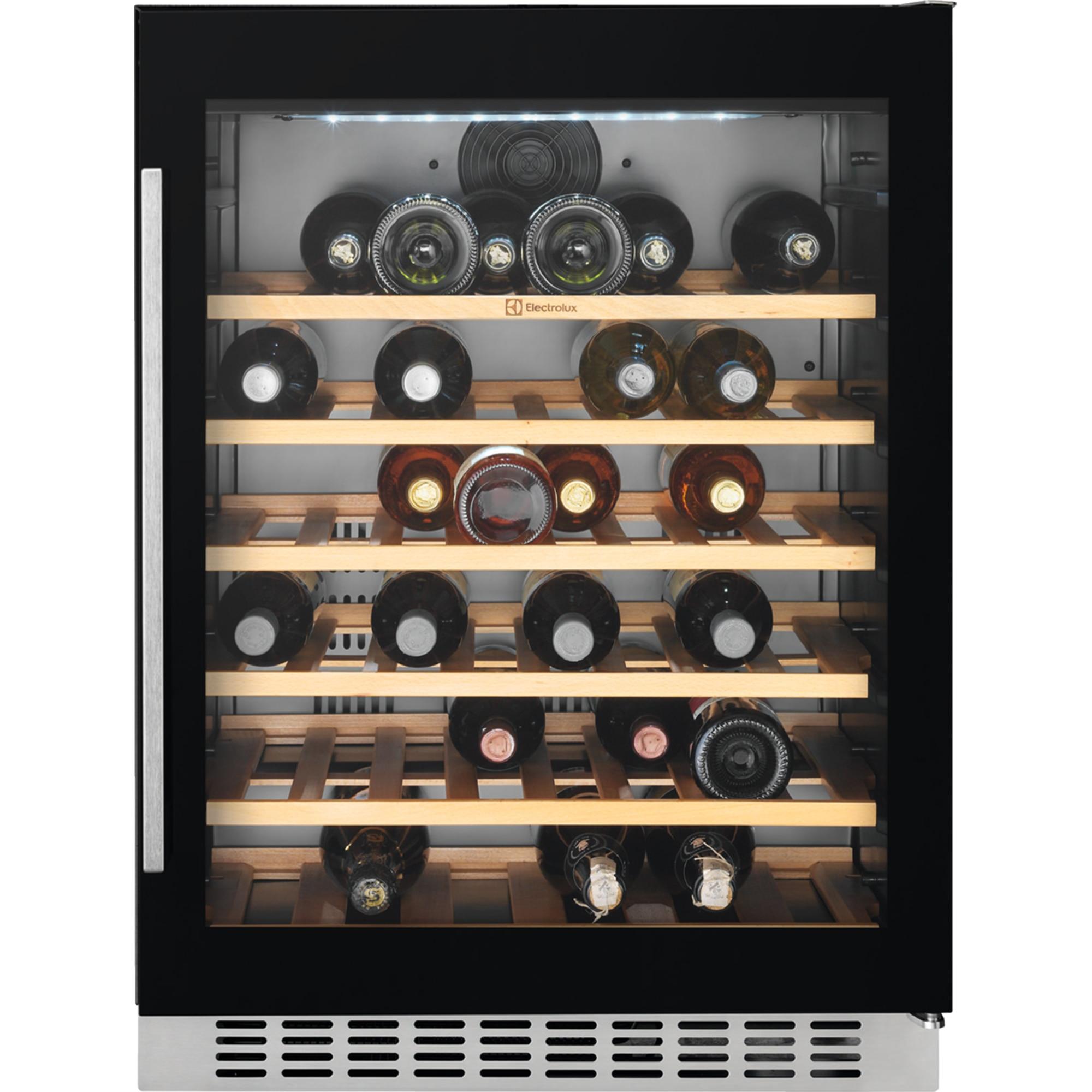 Fotografie Vitrina de vinuri incorporabila Electrolux ERW1573AOA, 138 l, Capacitate 46 sticle, Clasa A, H 82 cm