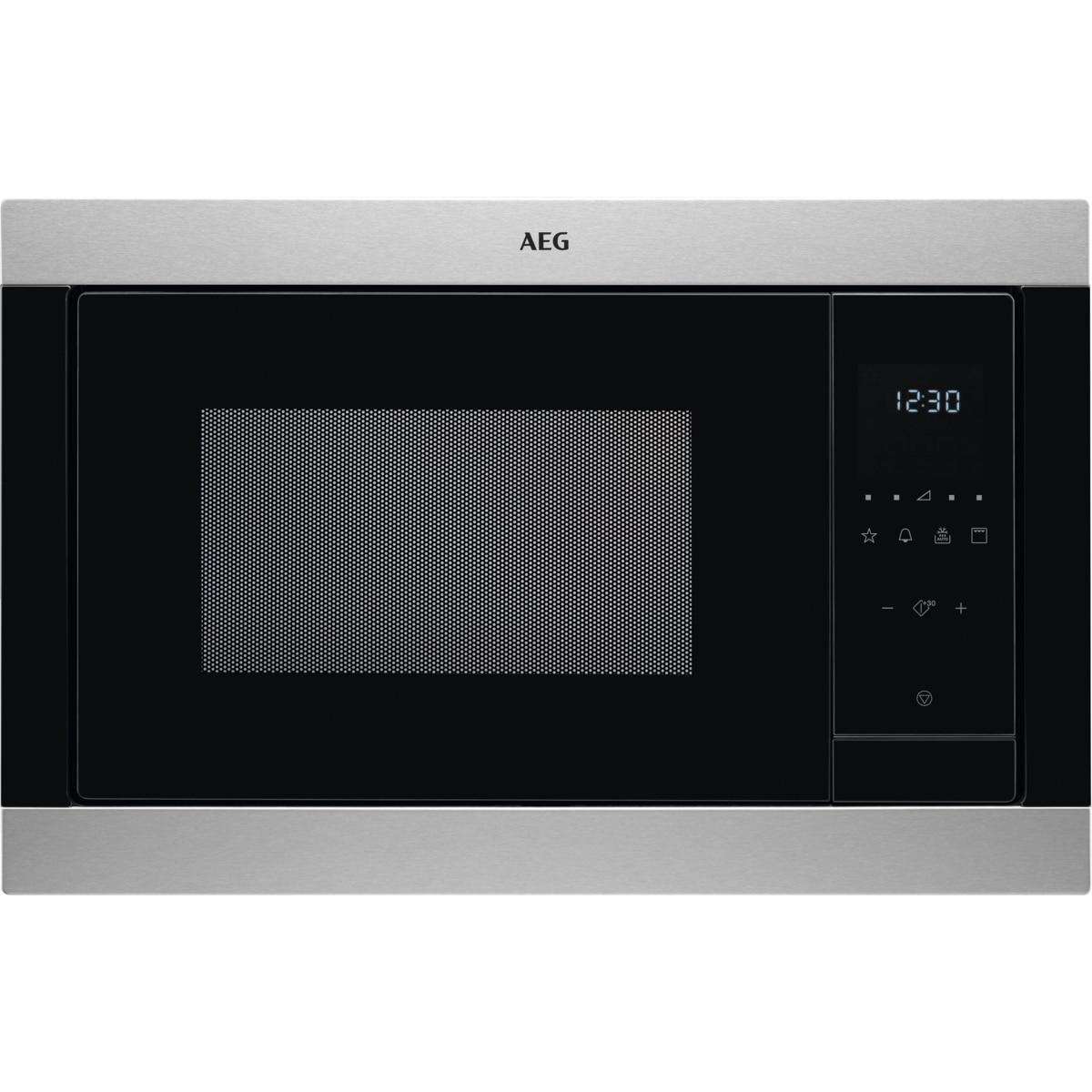 Fotografie Cuptor cu microunde incorporabil AEG MSB2547D-M, 23 l, 900 W, Grill, Timer, Inox antiamprenta
